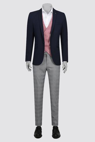 Tween Slim Fit Slim Fit Lacivert Takım Kombınlı - 8681649503507 | Damat Tween