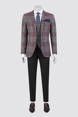 Tween Slim Fit Bordo Kombinli Takım Elbise - 8681649301370 | Damat Tween
