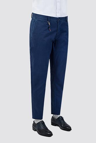 Tween Super Slim Fit Lacivert Desenli Chino Pantolon - 8681142961934   Damat Tween