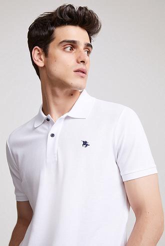 Ds Damat Regular Fit Beyaz Pike Dokulu T-shirt - 8682060907455 | D'S Damat