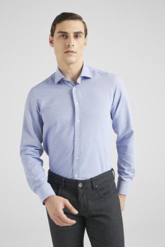 Ds Damat Regular Fit Mavi Gömlek - 8682445487961 | D'S Damat