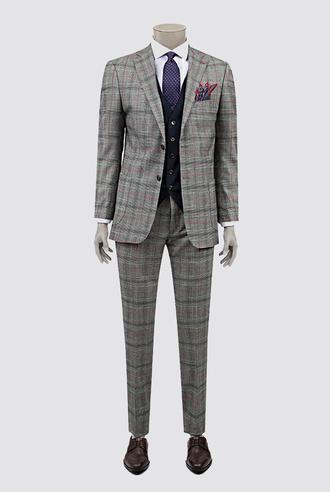 Ds Damat Slim Fit Gri Kombinli Takım Elbise - 8681778569979   D'S Damat