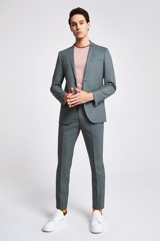 Twn Slim Fit Yeşil Armürlü Takım Elbise - 8682445015560 | D'S Damat