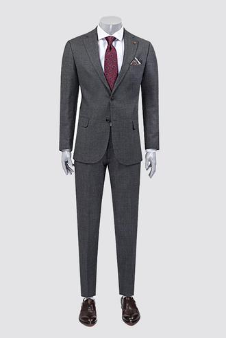 Damat Regular Fit Antrasit Desenli Takım Elbise - 8681649263210 | Damat Tween