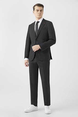 Ds Damat Slim Fit Siyah Düz Takım Elbise - 8682445184495   D'S Damat