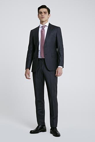 Ds Damat Slim Fit Antrasit Düz Takım Elbise - 8682445049695 | D'S Damat