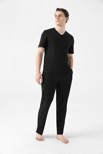 Ds Damat Regular Fit Siyah Pijama Takımı - 8682445223217   D'S Damat