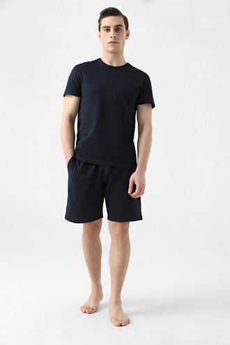 Ds Damat Regular Fit Lacivert Düz Pijama Takımı - 8682445223392   D'S Damat
