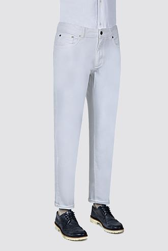 Ds Damat Slim Fit Beyaz Düz Chino Pantolon - 8681494410135   D'S Damat