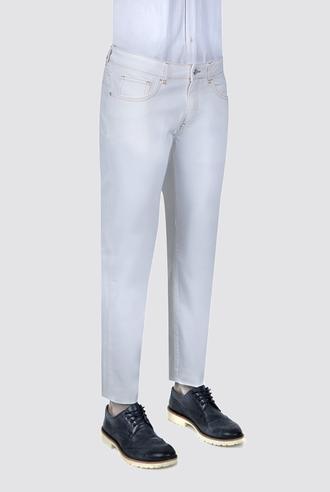 Ds Damat Slim Fit Beyaz Düz Chino Pantolon - 8681494279978   D'S Damat