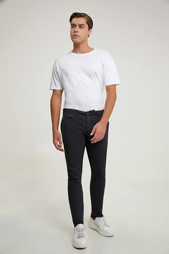 Twn Slim Fit Siyah Armürlü Chino Pantolon - 8682445205602 | D'S Damat