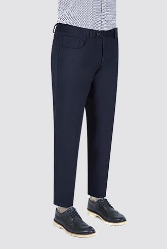 Ds Damat Slim Fit Lacivert Düz Kumaş Pantolon - 8681778814598 | D'S Damat