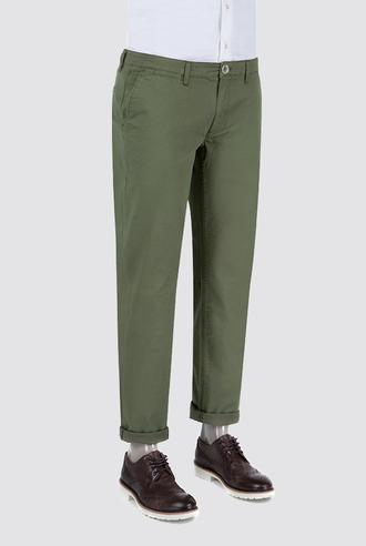 Ds Damat Slim Fit Haki Düz Chino Pantolon - 8681779341314   D'S Damat
