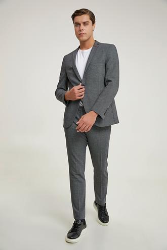Twn Slim Fit Antrasit Armürlü Takım Elbise - 8682445502381 | D'S Damat