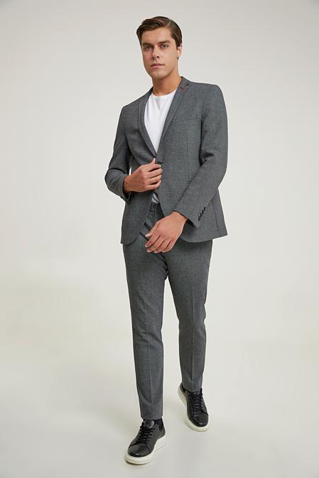 Twn Slim Fit Antrasit Armürlü Takım Elbise - 8682445502381   D'S Damat