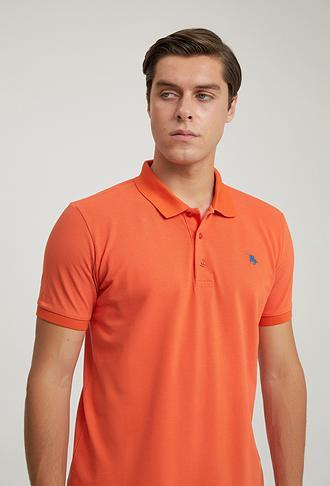 Ds Damat Regular Fit Turuncu Pike Dokulu T-shirt - 6725695038018 | D'S Damat