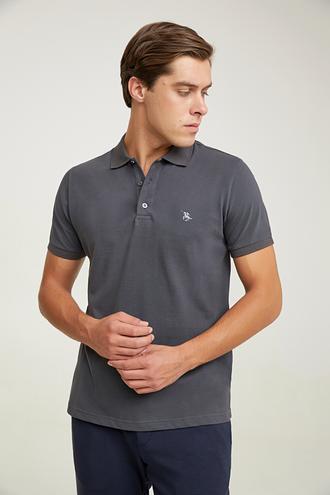 Ds Damat Regular Fit Antrasit Pike Dokulu T-shirt - 8682060907523 | D'S Damat