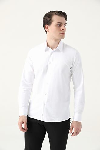 Tween Slim Fit Beyaz Gömlek - 8682364901852 | Damat Tween