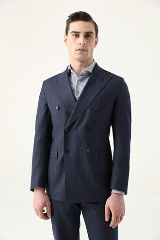 Damat Regular Fit Lacivert Superfine Wool Takım Elbise - 8682364905553 | Damat Tween
