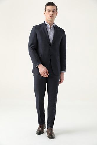 Damat Regular Fit Lacivert Superfine Wool Takım Elbise - 8682364905447 | Damat Tween
