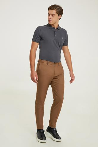 Tween Slim Fit Camel Kumaş Pantolon - 8682364974191   Damat Tween