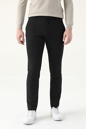 Tween Slim Fit Siyah Örme Chino Pantolon - 8682364912216 | Damat Tween