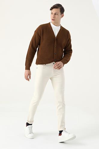 Tween Super Slim Fit Ekru Chino Pantolon - 8682364834648   Damat Tween