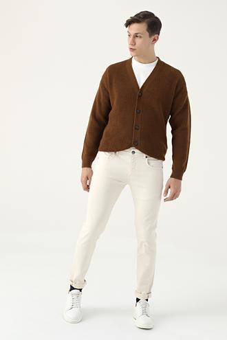 Tween Super Slim Fit Ekru Chino Pantolon - 8682364923052   Damat Tween