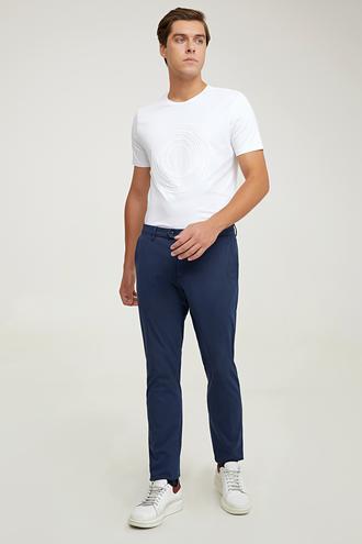 Damat Slim Fit Lacivert Chino Pantolon - 8682364960873   Damat Tween
