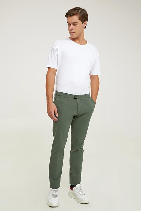 Damat Slim Fit Haki Chino Pantolon - 8682364961238 | Damat Tween