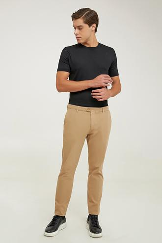 Damat Slim Fit Camel Chino Pantolon - 8682364961146   Damat Tween