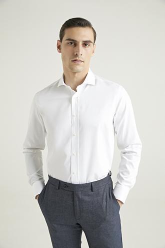 Damat Comfort Beyaz Düz Gömlek - 8682364918904 | Damat Tween
