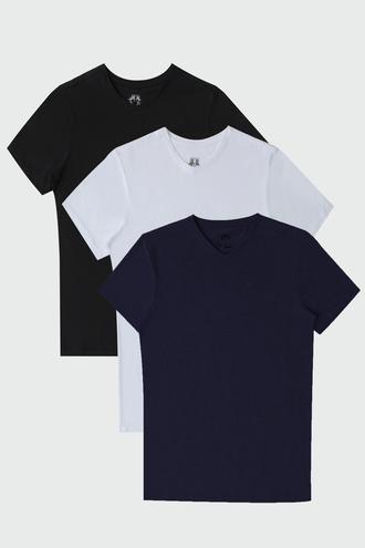 Ds Damat Slim Fit Standart 3'lü T-shirt - 6725695022765 | D'S Damat