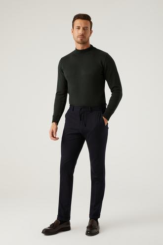 Twn Slim Fit Lacivert Örme Jogger Pantolon - 8682445120325 | D'S Damat