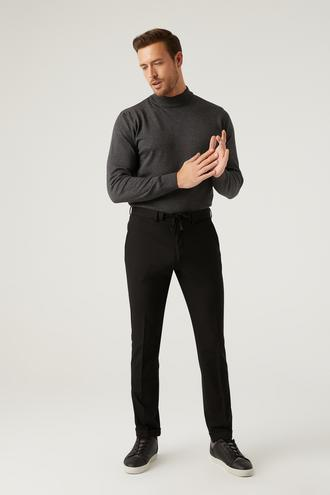 Twn Slim Fit Siyah Armürlü Jogger Pantolon - 8682445187250 | D'S Damat