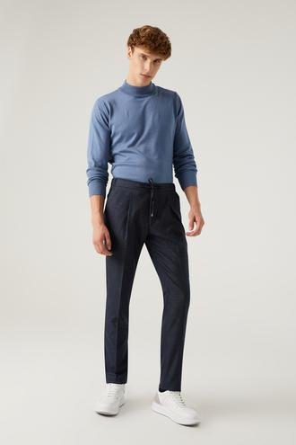 Twn Slim Fit Lacivert Armürlü Jogger Jogger Pantolon - 8682445501056 | D'S Damat