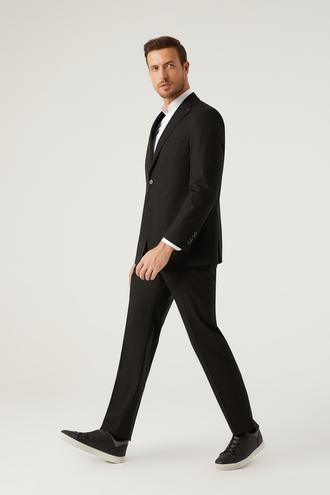 Ds Damat Comfort Fit Siyah Düz Takım Elbise - 8682445213645 | D'S Damat