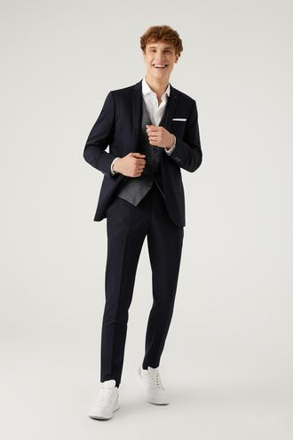 Twn Slim Fit Lacivert Kombinli Takım Elbise - 8682445182859 | D'S Damat
