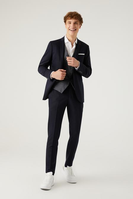 Twn Slim Fit Lacivert Kombinli Takım Elbise - 8682445182859   D'S Damat