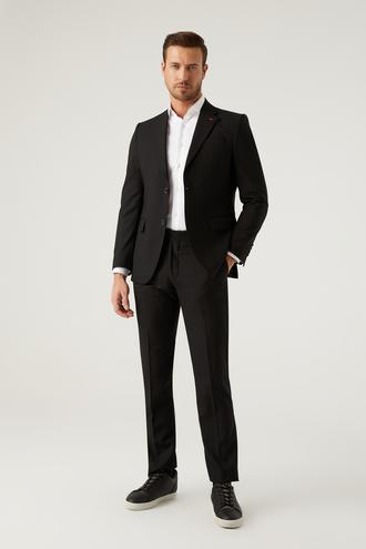 Ds Damat Slim Fit Siyah Düz Takım Elbise - 8682445460308   D'S Damat