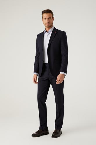 Ds Damat Slim Fit Lacivert Düz Takım Elbise - 8682445460407 | D'S Damat