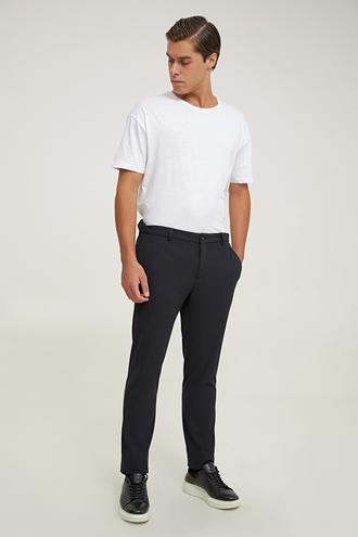 Tween Slim Fit Siyah Örme Chino Pantolon - 8682364912216   Damat Tween
