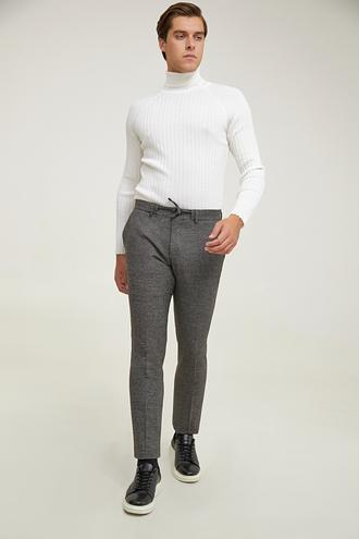 Twn Slim Fit Kahve Armürlü Jogger Jogger Pantolon - 8682445501124 | D'S Damat