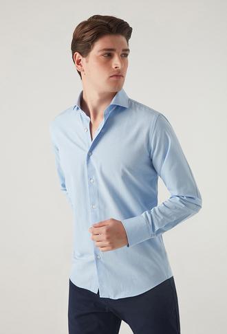 Ds Damat Slim Fit Mavi Gömlek - 8681779951810 | D'S Damat