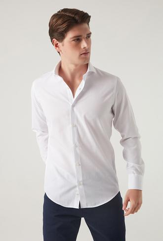 Ds Damat Slim Fit Beyaz Gömlek - 8681779951889 | D'S Damat