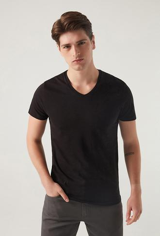 Ds Damat Slim Fit Siyah T-shirt - 8682060252043   D'S Damat