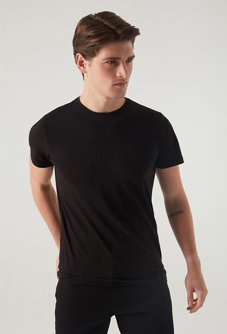 Ds Damat Slim Fit Siyah T-shirt - 8682060252234   D'S Damat
