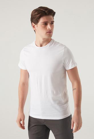 Ds Damat Slim Fit Beyaz T-shirt - 8682060252388   D'S Damat