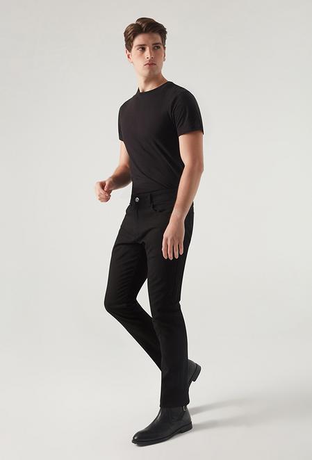 Twn Slim Fit Siyah Armürlü Chino Pantolon - 8682445501216 | D'S Damat