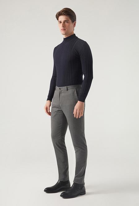 Tween Slim Fit Antrasit Kumaş Pantolon - 8682364976997 | Damat Tween